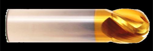 4 Flute, Stub Length, Ball Nose, TiN Coated Carbide End Mill   RTJTool.com