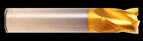 4 Flute, Stub Length, TiN Coated Carbide End Mill | RTJTool.com