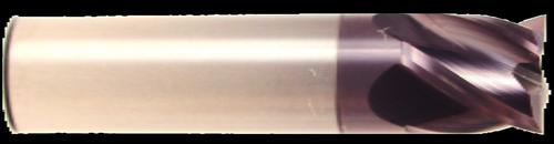 4 Flute, Stub Length, AlTiN Coated Carbide End Mill | RTJTool.com