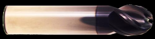 4 Flute, Stub Length, Ball Nose, AlTiN Coated Carbide End Mill   RTJTool.com