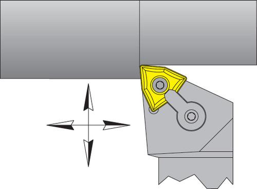 "WNMG-432 Inserts w/ 3/4"" Right Hand MWLNR Tool Holder Kit - DPC15HT"