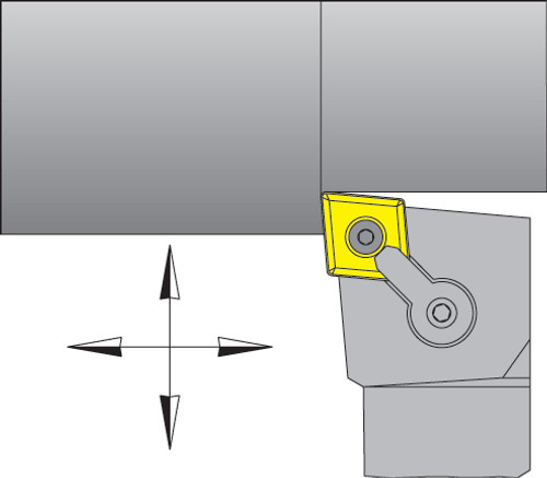 "CNMG-432 Inserts w/ 3/4"" Right Hand MCLNR Tool Holder Kit - DMC30UT"