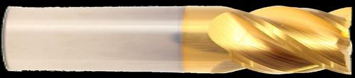 4 Flute, Tin Coated, Carbide End Mill   RTJ Tool Company