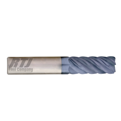 6 FLute, 45° Helix, AlTiN Coated End Mills| RTJ Tool Company