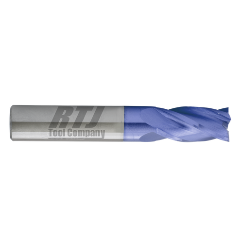 4 Flute, AlTiN Coated Carbide End Mill | RTJ Tool Company