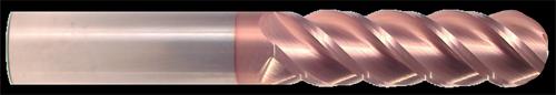 2 Flute, TiCN Coated Ball Nose Carbide End Mill   RTJTool.com