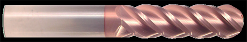 4 Flute, TiCN Coated Ball Nose Carbide End Mill   RTJTool.com
