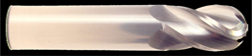4 Flute, Ball Nose, Uncoated Carbide End Mill | RTJTool.com