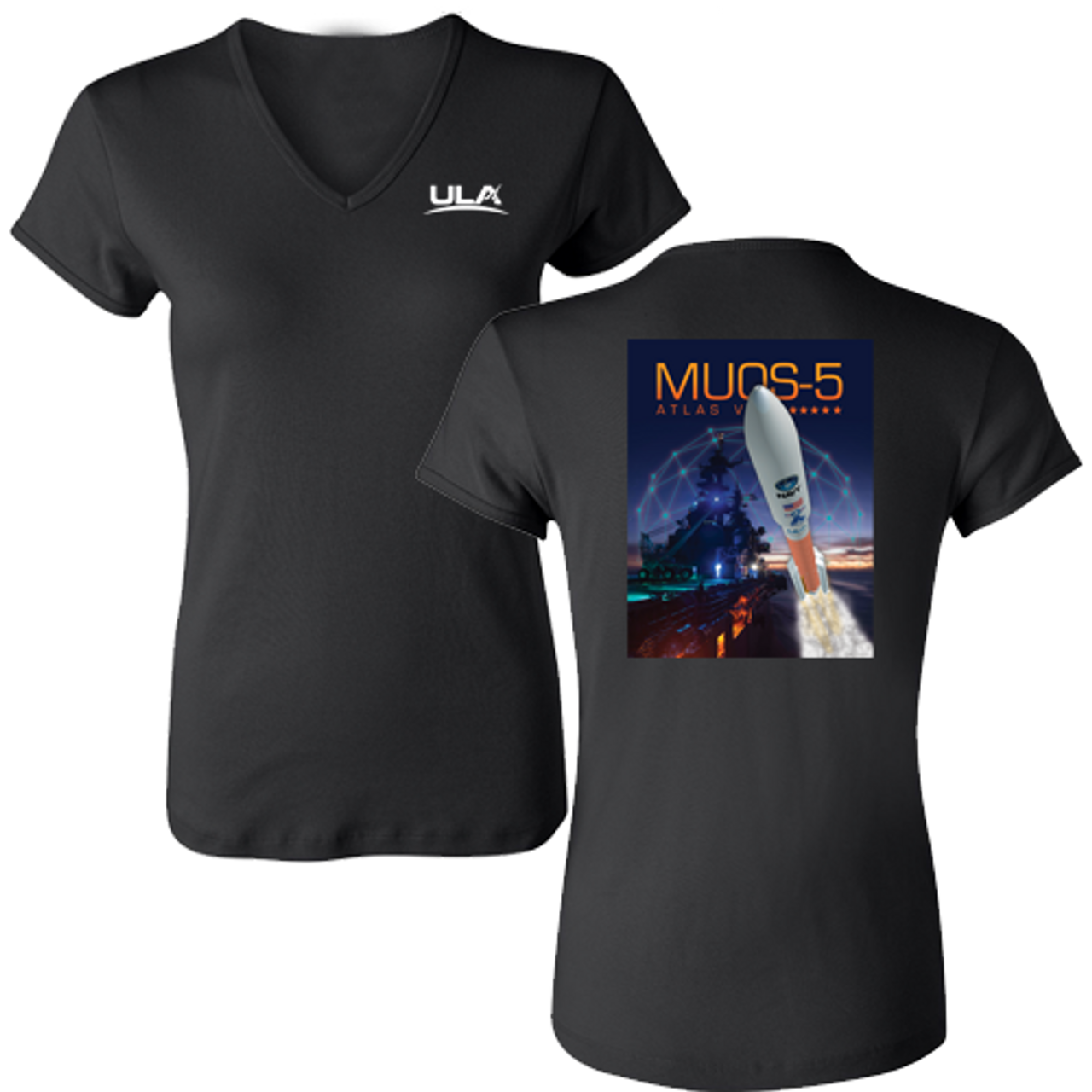 3eff1324e MUOS-5 Women s V-Neck Bella Fitted T-shirt - United Launch Alliance