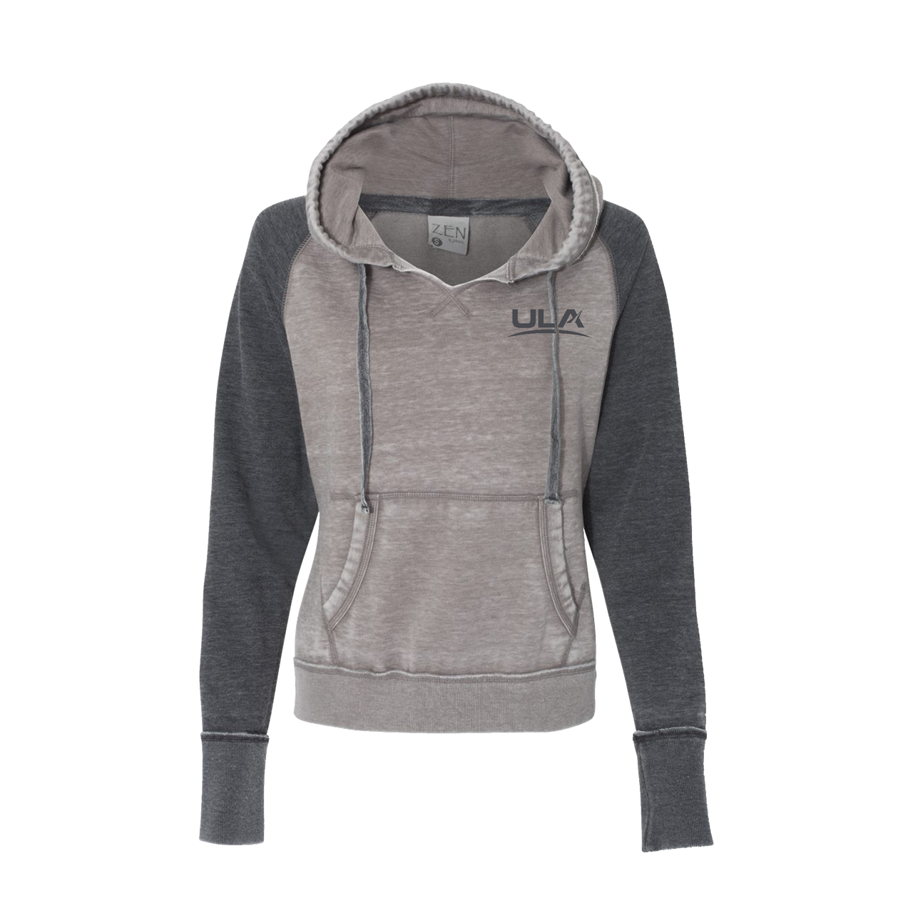 d8c45882b J. America - Women's Zen Fleece Raglan Hooded Pullover Sweatshirt