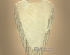 Leather Chaleco Fringed Vest -Back View