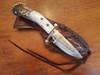 Drop point antler knife