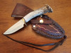 Rustic handcrafted leather sheath
