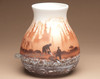 Hand Painted Navajo Pottery Vase - Back View