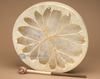 """Native Tarahumara Painted Drum 16"""" -Moonlit Bear (pd36)"""