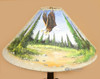 """Painted Leather Lamp Shade 24"""" -Eagle Village"""