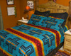 Matching Pillow Shams - Cochiti Turquoise and Black - Sold Separately