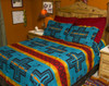 Matching Pillow Shams - Cochiti Turquoise and Red - Sold Separately