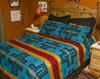 Matching Pillow Shams - Cochiti Turquoise & Black Shams -Sold Separately