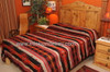 Reversible side of beautiful southwestern bedspread.