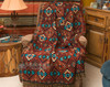 Southwestern rust throw blanket. (sierra)