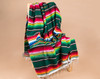 Example of Green serape. Accent color stripes vary.