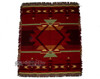 Full detail of the Pueblo Red throw.