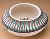 Kokopelli Feather Bowl -Side View