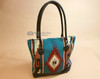 Rug Bag Purse w/ Real Leather Handles