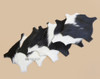 Genuine Cowhide 6 piece set of Coasters - Black and White