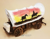 Classic Covered Wagon with flour bags