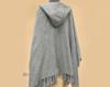 Grey Alpaca Hooded Shawl