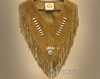 Fringed Leather Bear Paw Dance Shirt - Front View