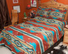 Southwestern Chevron Bedspread Queen Rust -Shams Available Separately