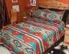 Southwestern Chevron Bedspread Queen Rust -Accent Shams Available Separately