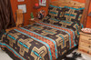 Western Bedspread -Cochiti Brown Shams Available Separately