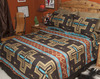 Western Bedspread -Cochiti Brown Accent Shams Available Separately