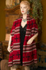 Southwestern Woven Navajo Cross Shawl -Cape Style Over Both Shoulders