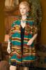 Woven Southwest Shawl Hopi Turquoise -Cape Style