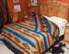 Southwestern Bedspread Saltillo Tan -Reverse Fold Down