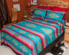 Southwestern Bedspread Saltillo Turquoise - optional accent shams