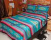 Southwestern Bedspread Saltillo Turquoise - optional matching shams