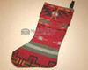 Woven Native Design Christmas Stocking