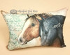 Soft Designer Ranch Pillow -Horses