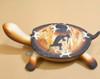 Turtle Jewelry Box with Lid - Brown Kokopelli Design