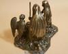 Rear View of Bronze Nativity Sculpture