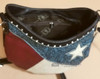 Texas Lone Star Purse - Lined interior with side pocket