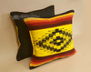 Pair Rustic Southwest Style Pillow Covers - Woven Front/Canvas Back