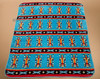 Plush Southwestern Design Turquoise Blanket -Navajo Yei