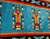 Southwestern Yei Blanket -Turquoise